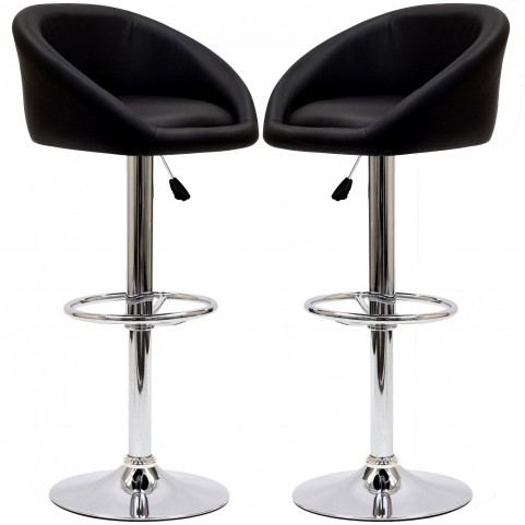Marshmallow Black Bar Stool Set of 2