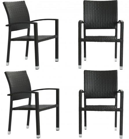Bella Patio Espresso Chairs Set of 4