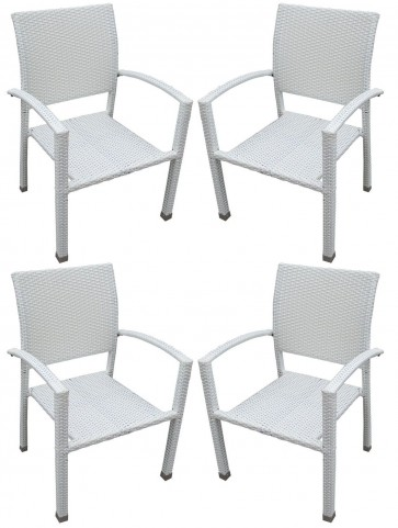Bella Patio White Chairs Set of 4