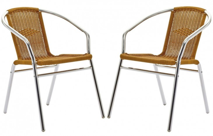 Bistro Natural Dining Chairs Set of 2
