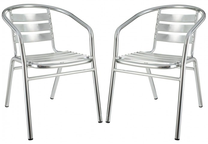 Perch Silver Dining Chairs Set of 2
