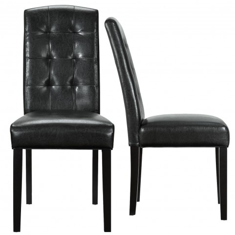 Perdure Black Dining Chairs Set of 2