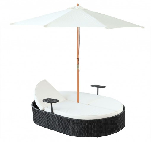 Nagoya Dual White Outdoor Patio Chaise