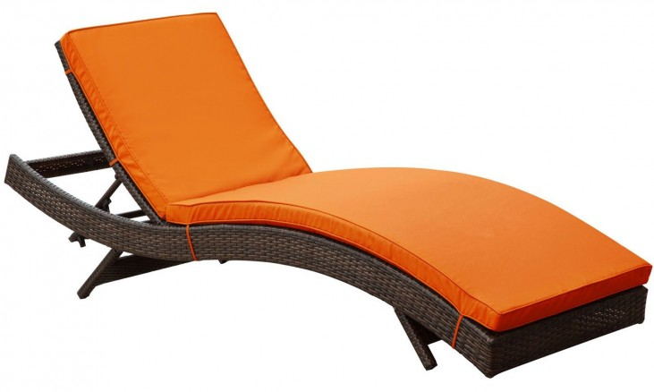 Peer Orange Outdoor Patio Chaise