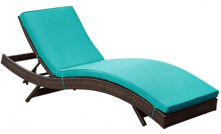 Peer Turquoise Outdoor Patio Chaise