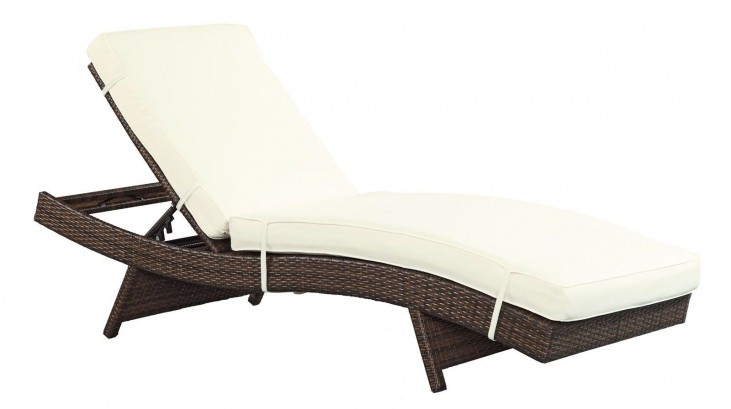 Peer White Outdoor Patio Chaise