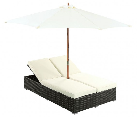 Arrival White Outdoor Patio Chaise