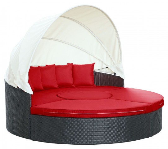 Quest Red Canopy Outdoor Patio Daybed
