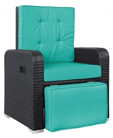 Commence Turquoise Patio Outdoor Patio Armchair Recliner