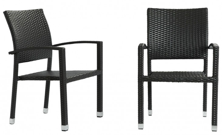 Bella Espresso Dining Chair Outdoor Patio Set of 2