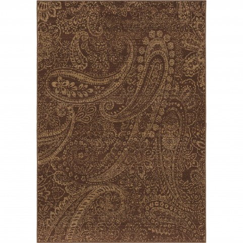 Paisley Patch Brick Large Rug