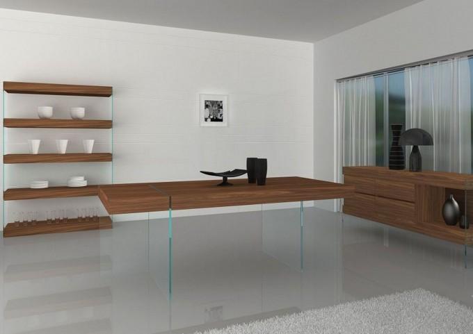 Elm Modern Rectangular Dining Room Set