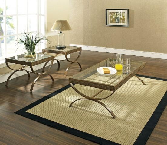 Emerson Antique Bronze 3 Piece Occasional Table Set
