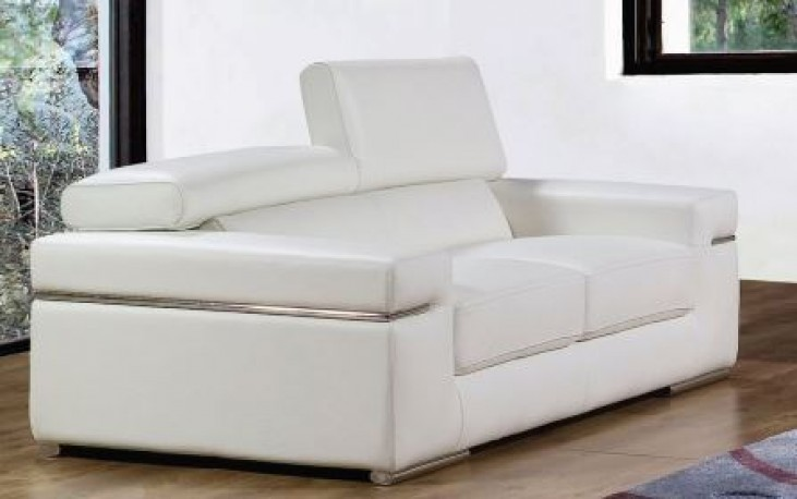 Emilia White Loveseat