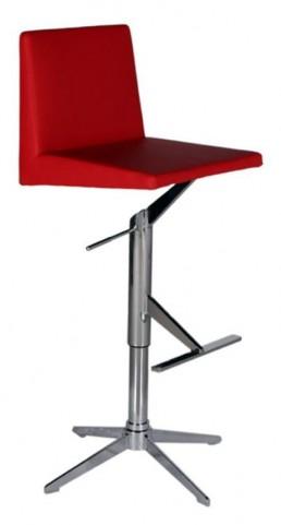 Ethan Red Hydraulic Barstool