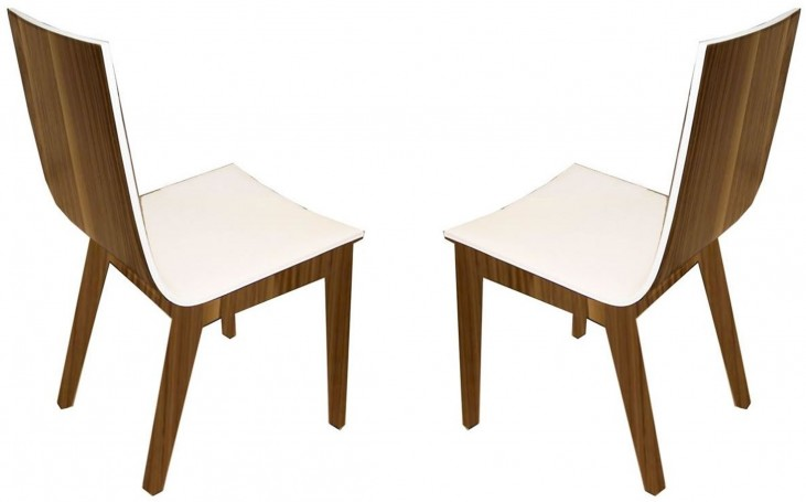 Eva White Dining Chair Set of 2
