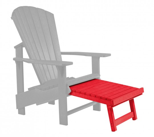 Generations Red Upright Adirondack Chair Pull Out Footstool
