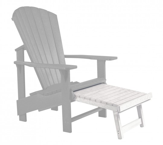 Generations White Upright Adirondack Chair Pull Out Footstool