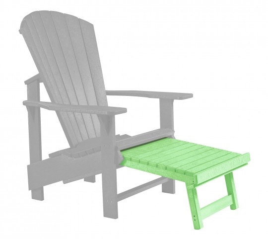 Generations Lime Green Upright Adirondack Chair Pull Out Footstool
