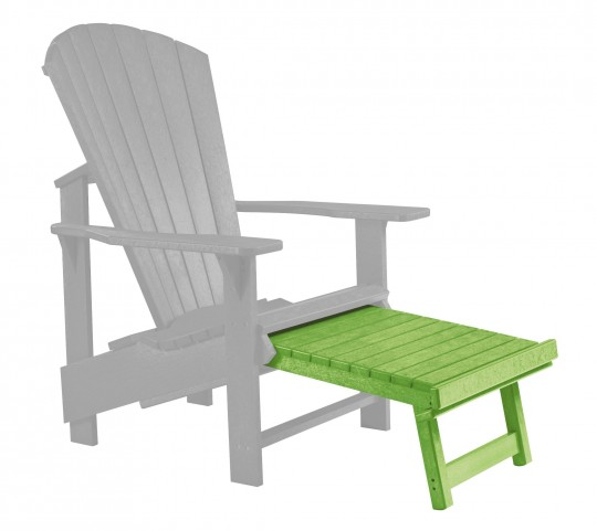 Generations Kiwi Lime Upright Adirondack Chair Pull Out Footstool