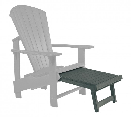 Generations Slate Upright Adirondack Chair Pull Out Footstool