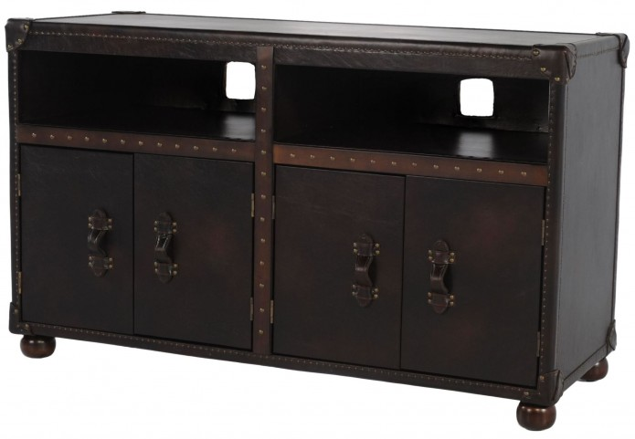 General Toberlone Leather Entertainment Center