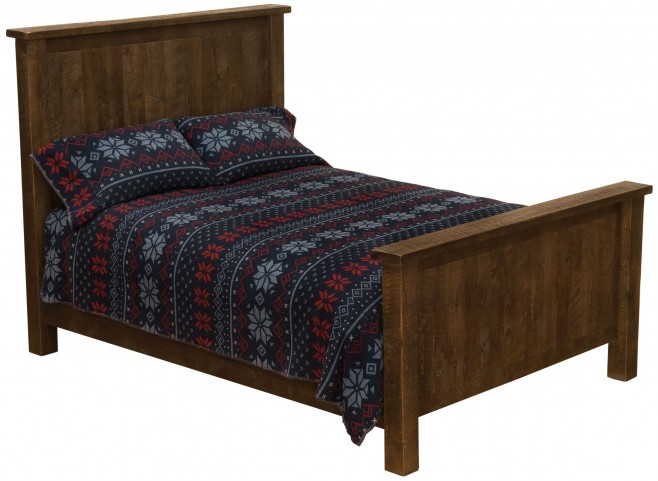 Frontier Barn Brown Queen Traditional Bed
