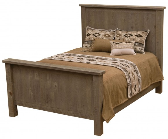 Frontier Driftwood Full Traditional Headboard