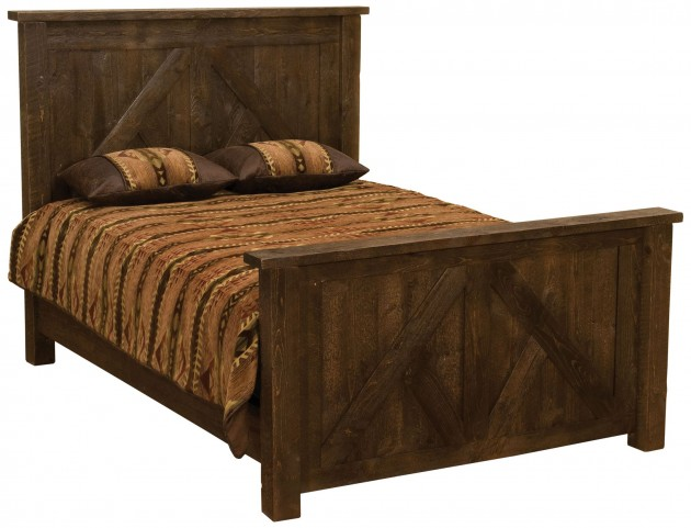 Frontier Barn Brown Double Timber Frame Bed