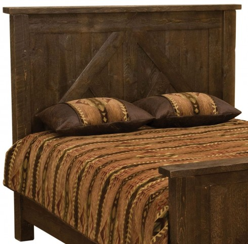 Frontier Barn Brown Cal. King Timber Frame Headboard