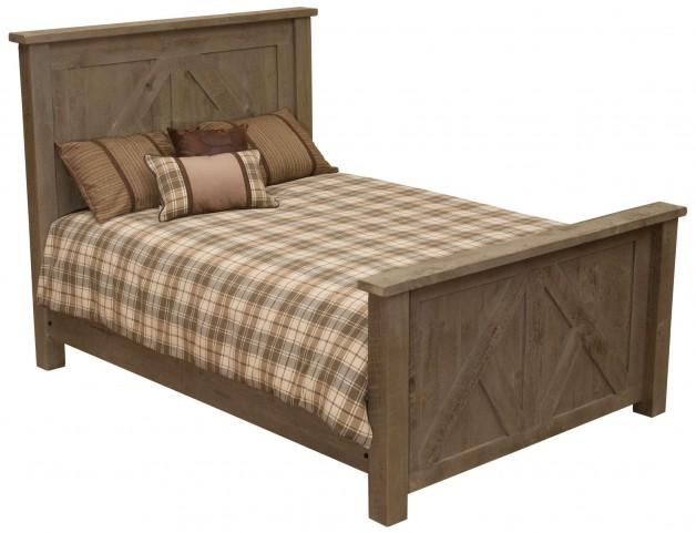 Frontier Driftwood King Timber Frame Headboard