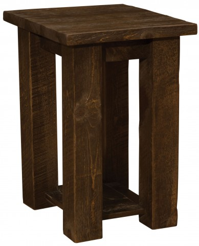 Frontier Barn Brown Open Nightstand
