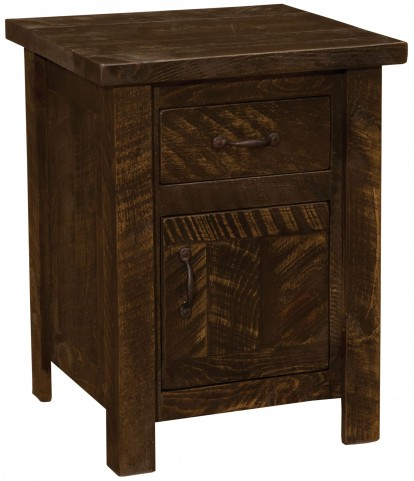 Frontier Barn Brown Enclosed Nightstand