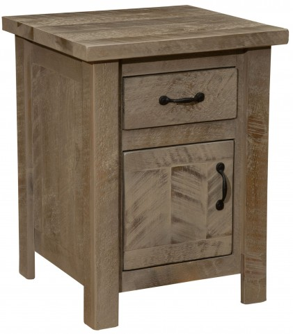 Frontier Driftwood Enclosed Nightstand