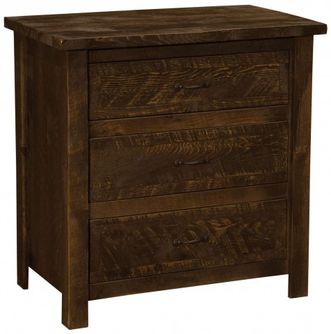 Frontier Barn Brown Premium Three Drawer Chest