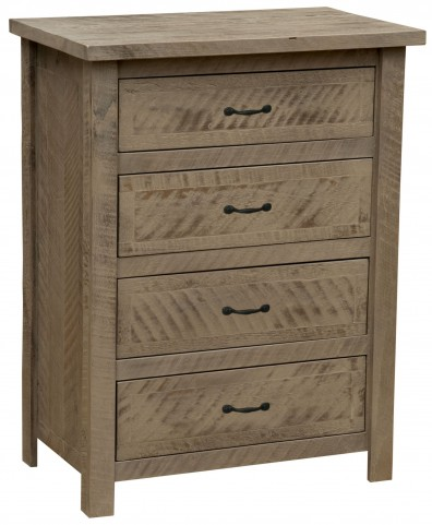 Frontier Driftwood Premium Four Drawer Chest