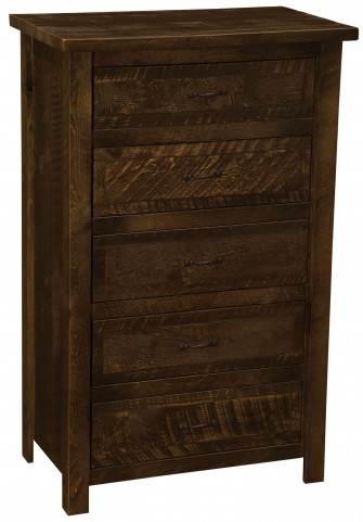 Frontier Barn Brown Value Five Drawer Chest