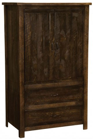 Frontier Barn Brown Value Two Drawer Wardrobe with Hanging Rod