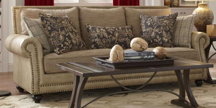 Kingsport Camel and Twilight Sofa