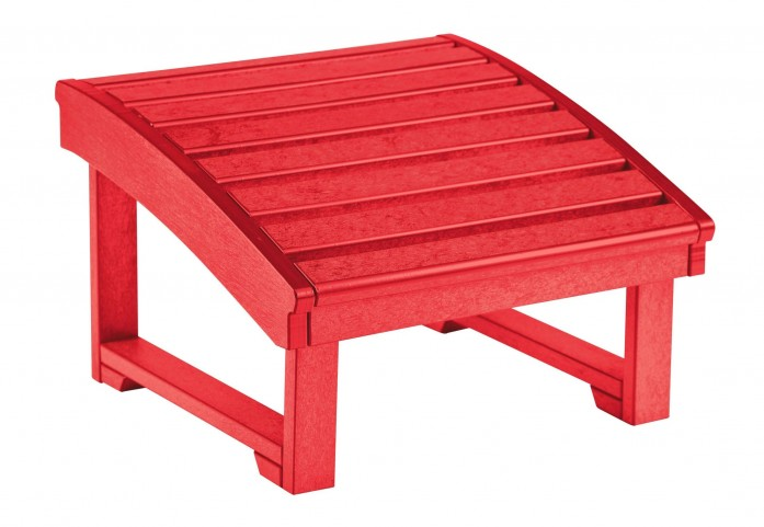 St Tropez Red Footstool