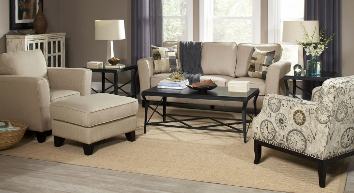 Park Central Taupe and Danube Living Room Set
