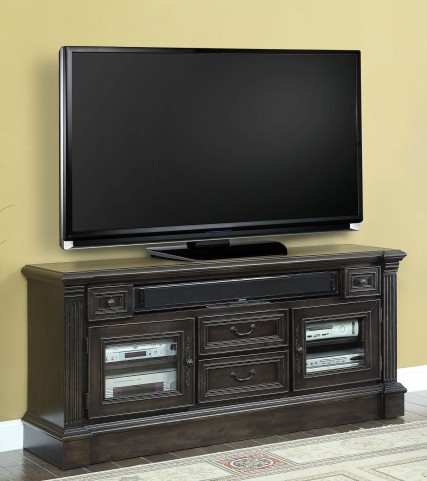 "Fairbanks Vintage Burnished Black 65"" TV Console"