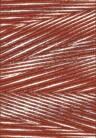 Fame Red/Cream Palm Leaf Medium Rug