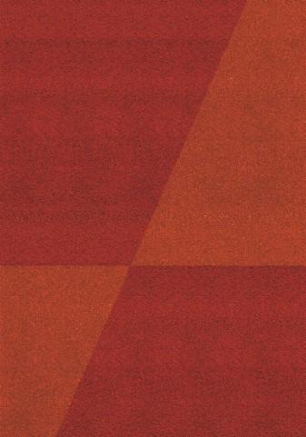 """Fame Red Orange Crossroads 94"""" Rug"""