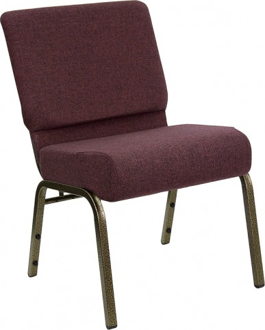 21'' Extra Wide Plum Hercules Church Chair with 4'' Thick Seat