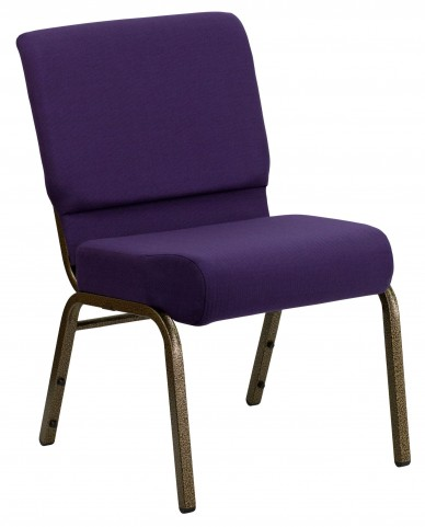 Hercules Series Extra Wide Royal Purple Stacking Church Chair