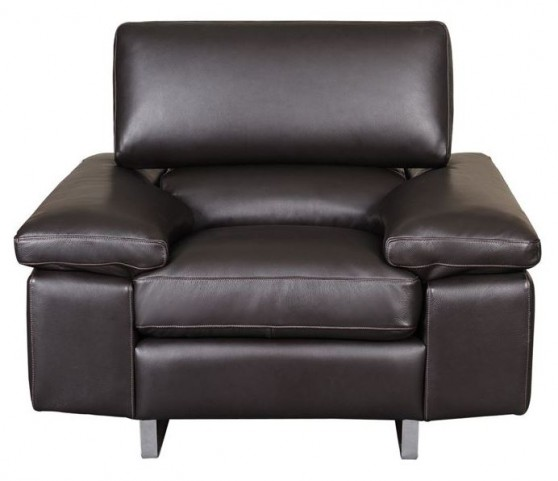 Fiona Black Leather Chair