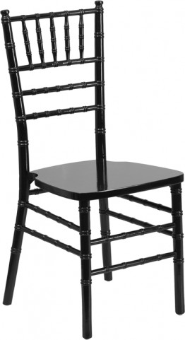 Flash Elegance Black Wood Chiavari Chair