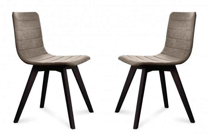 Flexa Flirt Sand Anthracite Frame Ashwood Chair Set of 2