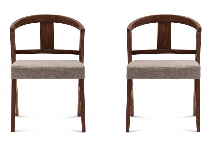Gea Flirt Sand Ashwood Chair Set of 2